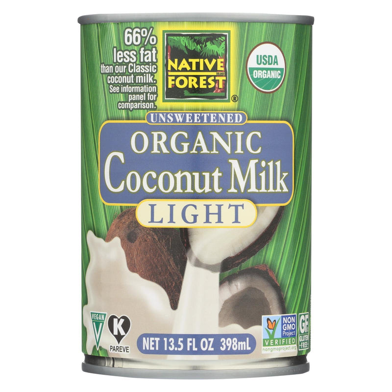 Native Forest Organic Light Milk - Coconut - Case of 12 - 13.5 fl oz