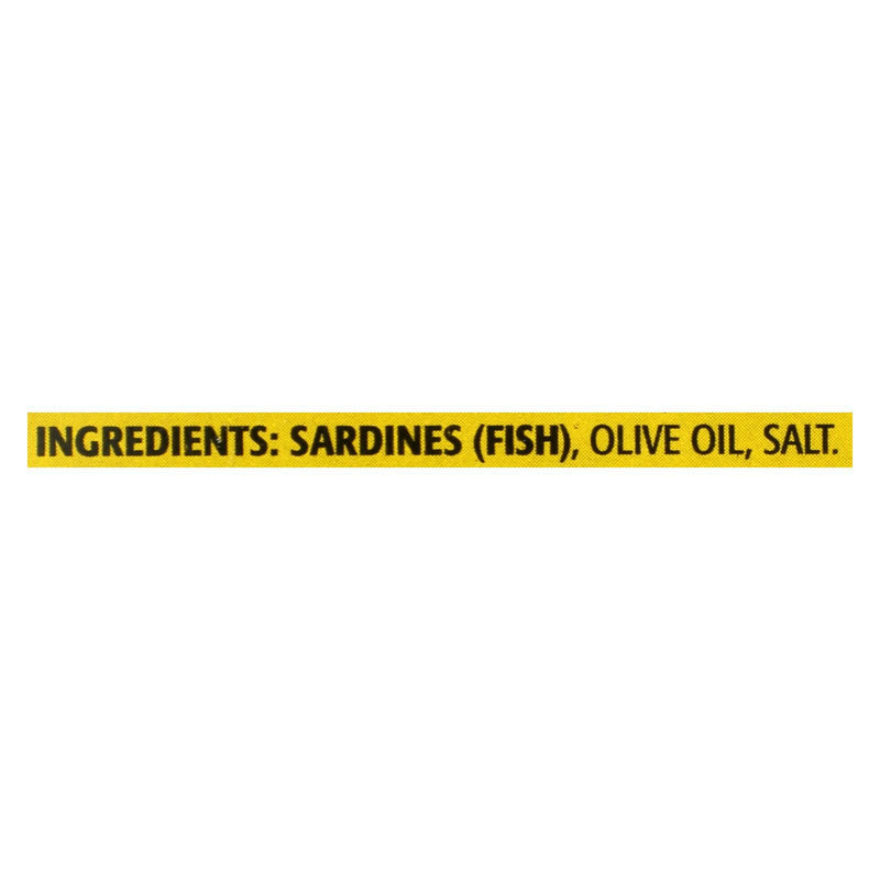 Season Brand Sardines In Pure Olive Oil - Salt Added - Case of 12 - 4.375 oz