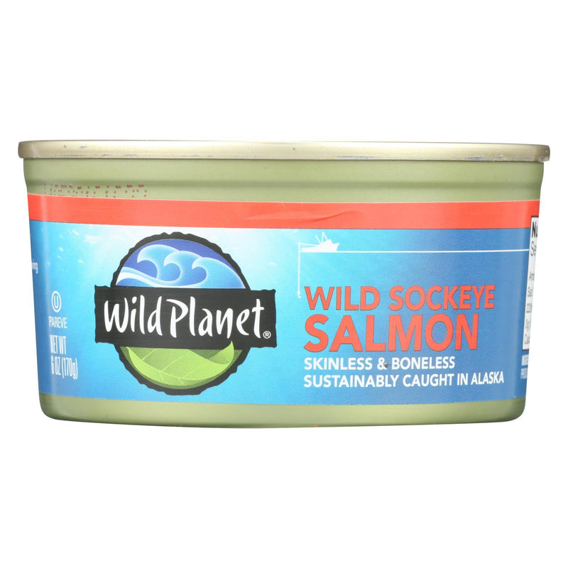 Wild Planet Wild Pacific Sockeye Salmon - Case of 12 - 6 oz