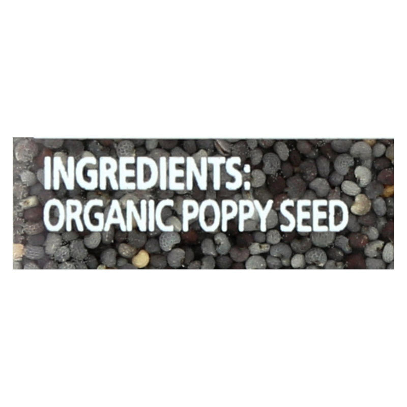 Simply Organic Poppy Seed - Organic - Whole - 3.81 oz