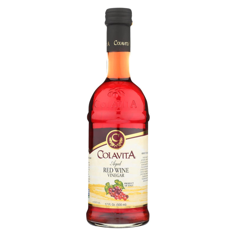Colavita Aged Red Wine Vinegar - Case of 12 - 17 fl oz