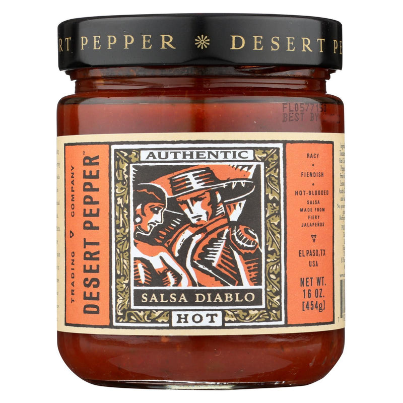 Desert Pepper Trading Hot Diablo Salsa - Case of 6 - 16 oz