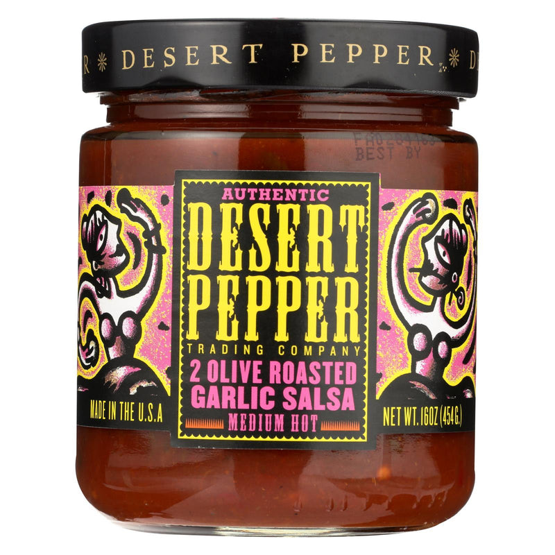 Desert Pepper Trading - Salsa - Two Olive Roasted Garlic - Case Of 6 - 16 Oz.