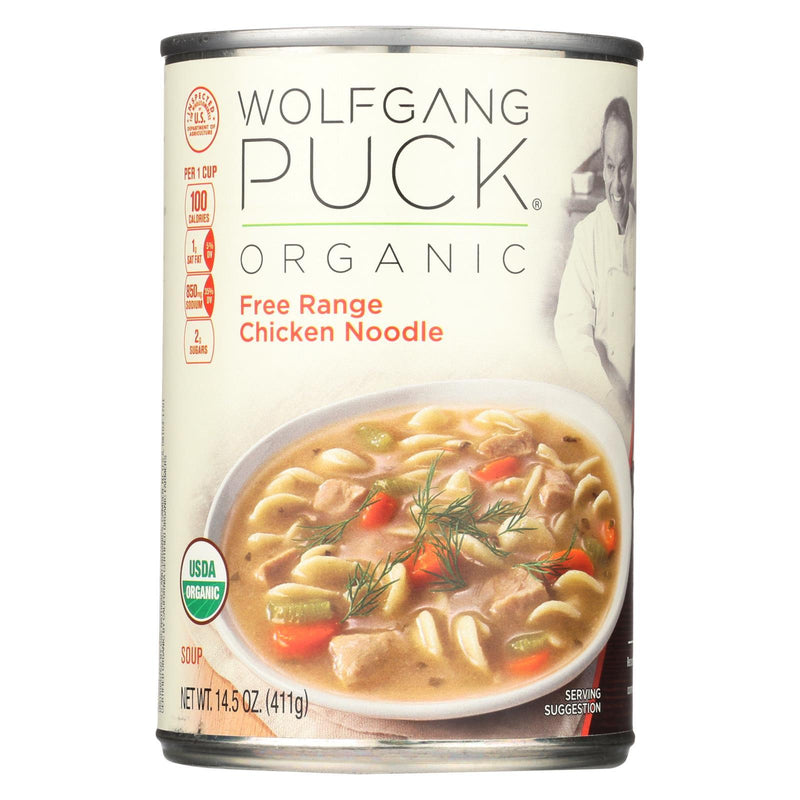Wolfgang Puck Organic Free Range Chicken Noodle Soup - Case of 12 - 14.5 oz