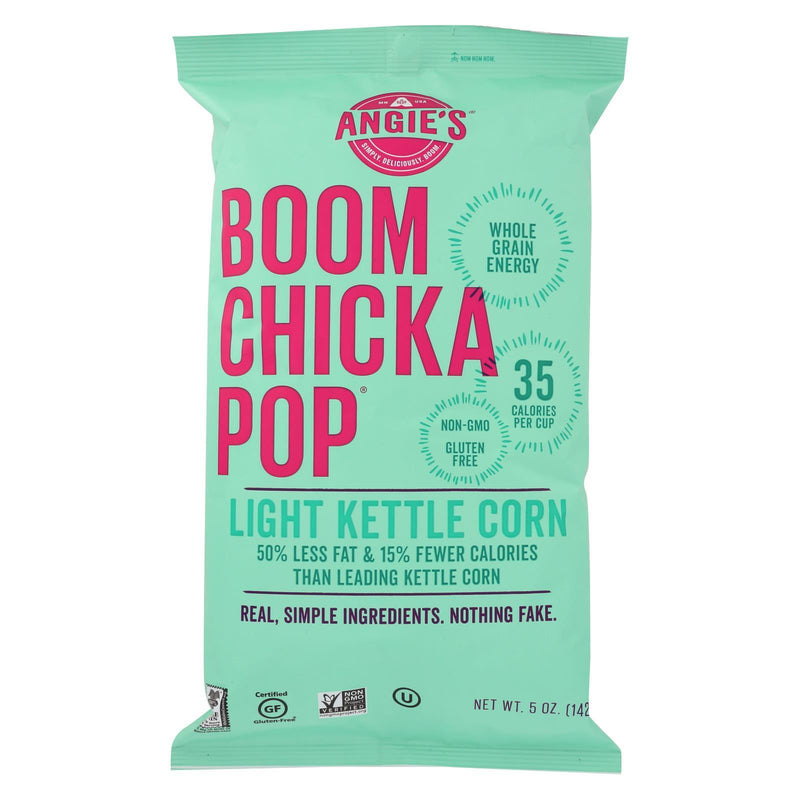 Angie's Kettle Corn Boom Chicka Pop Lightly Sweet Popcorn - Case of 12 - 5 oz