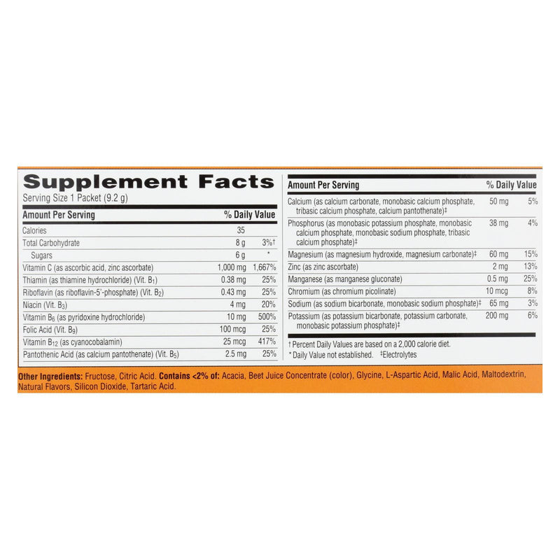 Alacer Emergen-c Vitamin C Fizzy Drink Mix Tropical - 1000 mg - 30 Packets