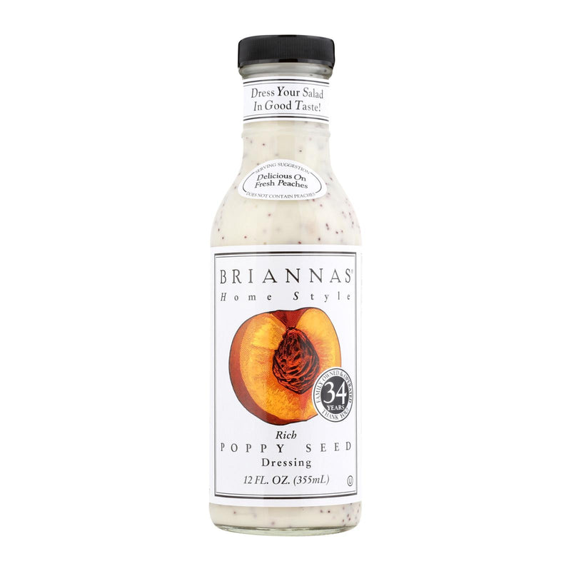 Brianna's Salad Dressing - Poppy Seed - Case of 6 - 12 fl oz