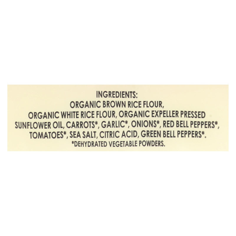 Edward and Sons Organic Vegetable Brown Rice Snaps - Case of 12 - 3.5 oz