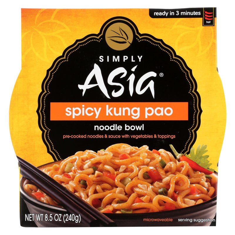 Simply Asia Noodle Bowl - Spicy Kung Pao - Case of 6 - 8.5 oz