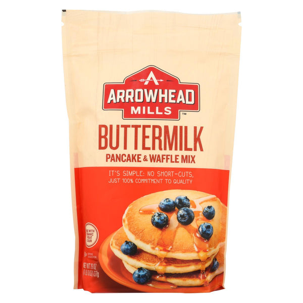 Arrowhead Mills Organic Buttermilk Pancake and Waffle - Mix - Case of 6 - 26 oz