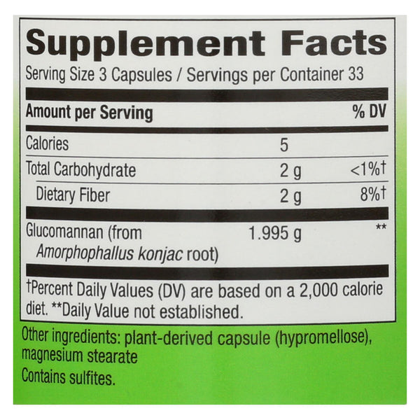 Nature's Way Glucomannan Root - 100 caps