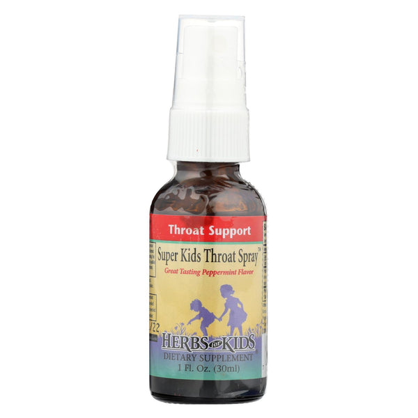 Herbs For Kids Super Kid's Throat Spray Peppermint - 1 fl oz
