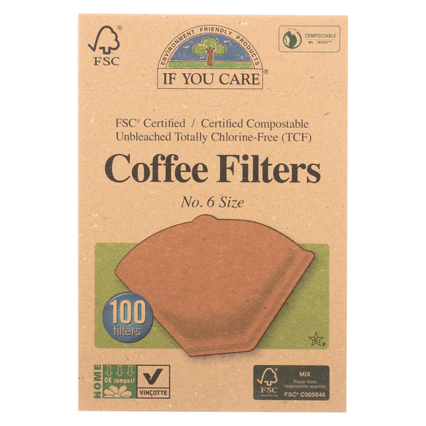 If You Care Coffee Filters - Brown - Cone - Number 6 - 100 ct