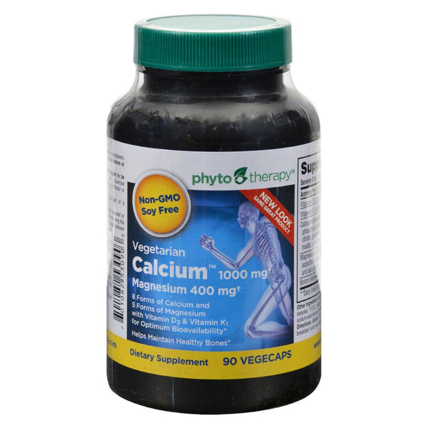 Phyto-therapy Vegetarian Calcium With Magnesium - 90 vcaps