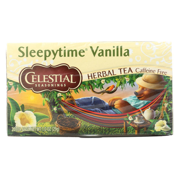 Celestial Seasonings Herbal Tea - Sleepytime Vanillailla - Case of 6 - 20 Bag