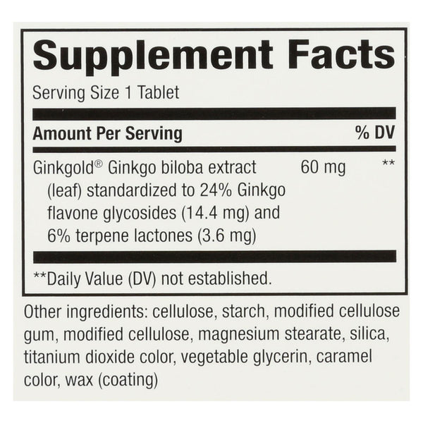 Nature's Way Ginkgold - 75 Tablet - 60 mg