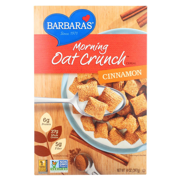 Barbara's Bakery Morning Oat Crunch Cereal - Cinnamon - Case of 6 - 14 oz