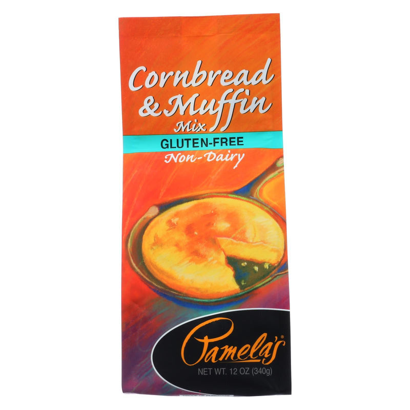 Pamela's Products Cornbread and Muffin - Mix - Case of 6 - 12 oz
