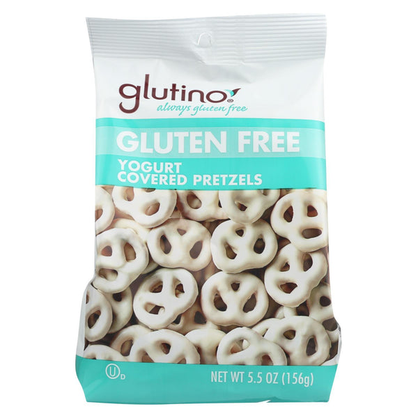 Glutino Peppermint Pretzels - Yogurt - Case of 12 - 5.5 oz