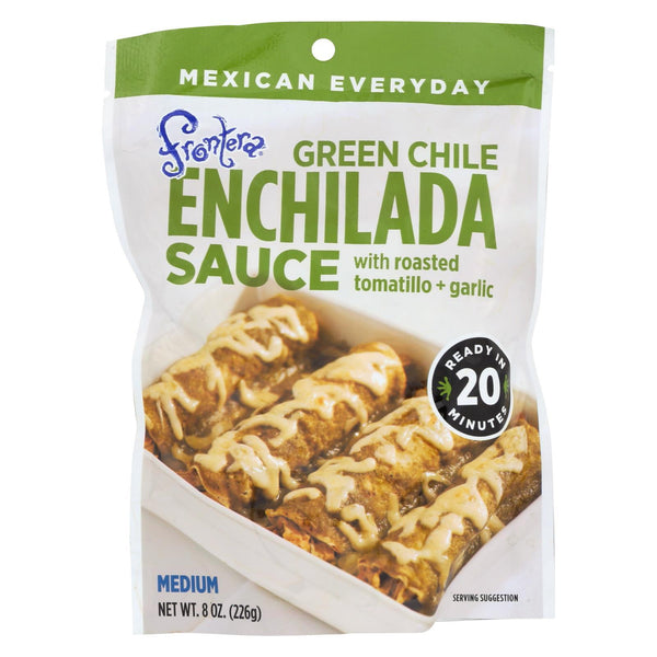 Frontera Foods Green Chile Enchilada Sauce - Green Chile - Case of 6 - 8 oz