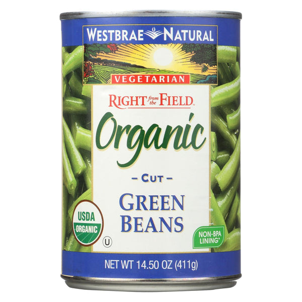 Westbrae Foods Organic Cut Green Beans - Case of 12 - 14.5 oz