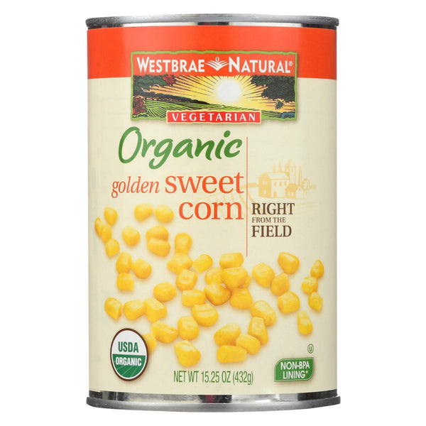 Westbrae Foods Whole Kernel Golden Corn - Case of 12 - 15.25 oz