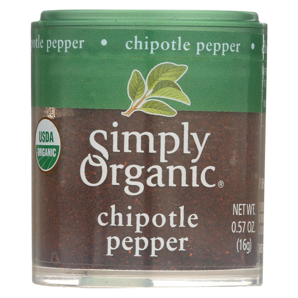 Simply Organic Chipotle Pepper - Organic - Ground - 0.57 oz - Case of 6