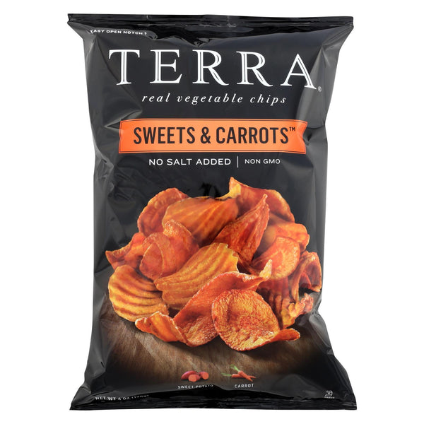 Terra Chips Sweet Potato Chips - Sweets and Carrots - Case of 12 - 6 oz