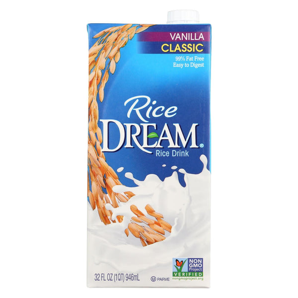 Imagine Foods Rice Dream Classic Rice Drink - Vanillailla - Case of 12 - 32 fl oz