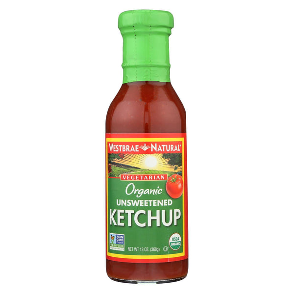 Westbrae Foods Ketchup - Unsweetened - Case of 12 - 13 oz