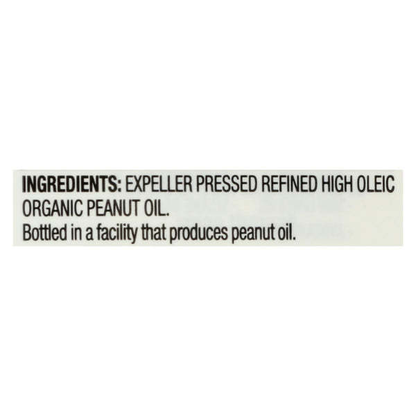 Spectrum Naturals High Heat Refined Organic Peanut Oil - Case of 12 - 16 fl oz