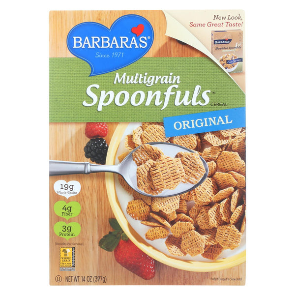 Barbara's Bakery Spoonfuls Cereal - Multigrain - Case of 12 - 14 oz