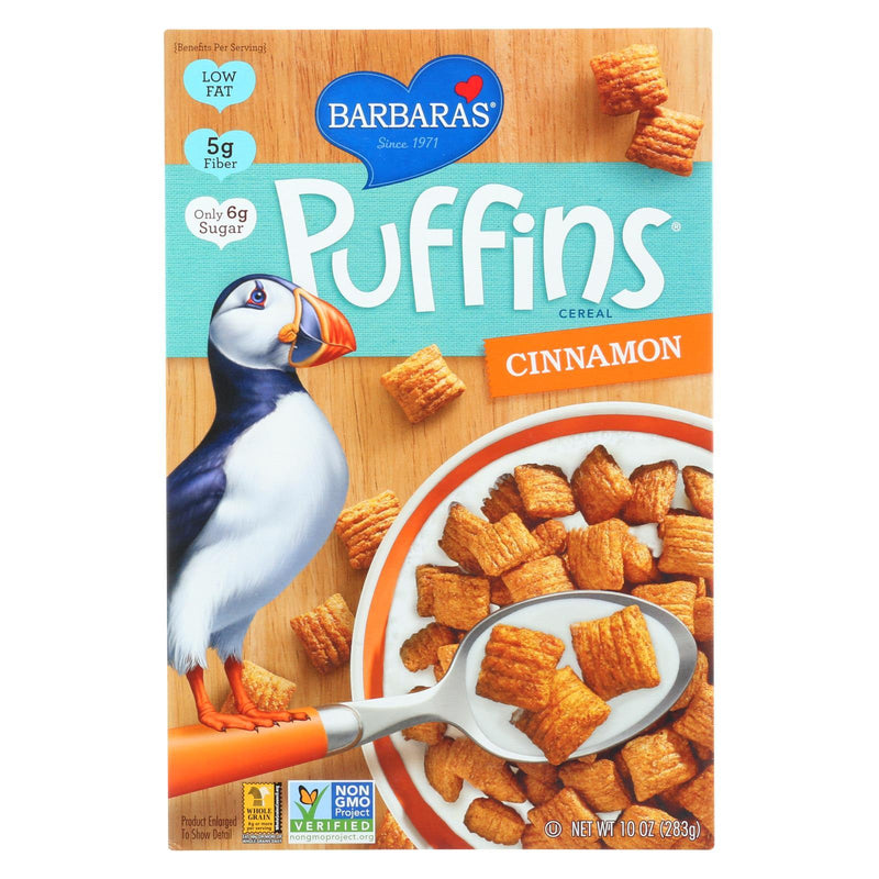 Barbara's Bakery Puffins Cereal - Cinnamon - Case of 12 - 10 oz