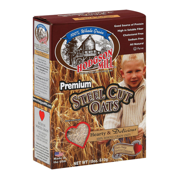 Hodgson Mills Premium Steel Cut Oat - Steel Cut Oats - Case of 6 - 18 oz