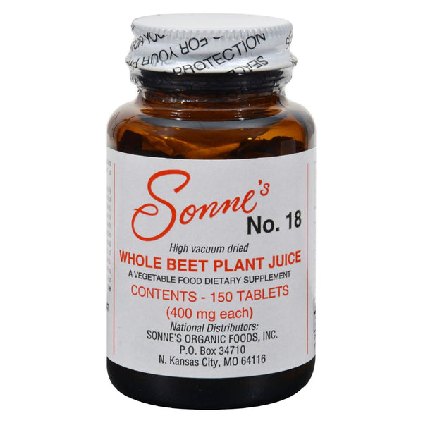 Sonne's Whole Beet Plant Juice No 18 - 400 mg - 150 tabs
