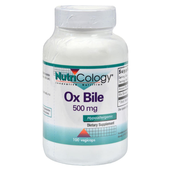 Nutricology Ox Bile - 500 mg - 100 vcaps