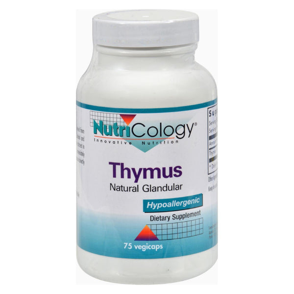 Nutricology Thymus Natural Glandular - 75 vcaps