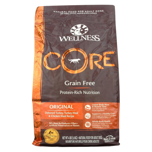 Wellness Pet Products Dog Food - Original Formula - Case of 6 - 4 lb