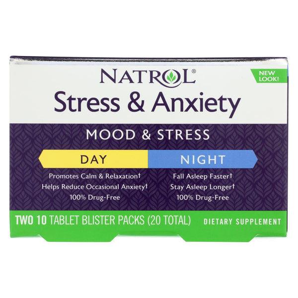 Natrol Stress Anxiety Day and Nite Formula - 20 tabs
