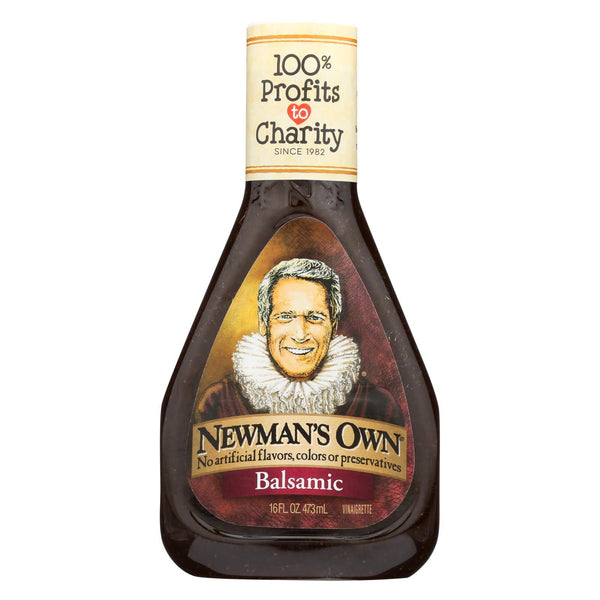 Newman's Own Balsamic Salad Dressing - Vinegar - Case of 6 - 16 fl oz