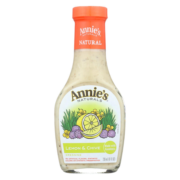 Annie's Naturals Dressing Lemon and Chive - Case of 6 - 8 fl oz