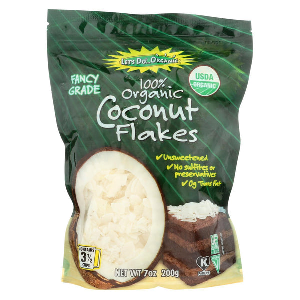 Let's Do Organics Coconut Flakes - Case of 12 - 7 oz