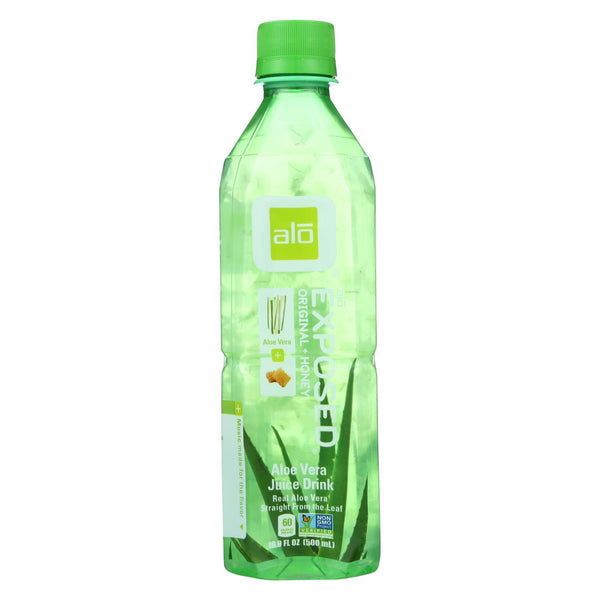 Alo Original Exposed Aloe Vera Juice Drink -  Original and Honey - Case of 12 - 16.9 fl oz