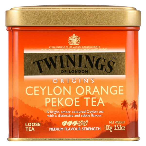 Twinings Tea Loose - Orange - Pekoe - Case of 6 - 3.53 oz