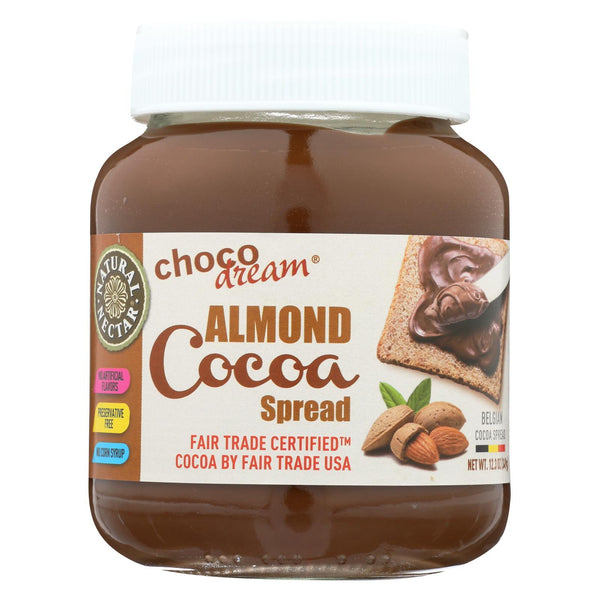 Natural Nectar Choco Dream Natural Belgium Cocoa Spread - Almond - Case of 6 - 12.3 oz