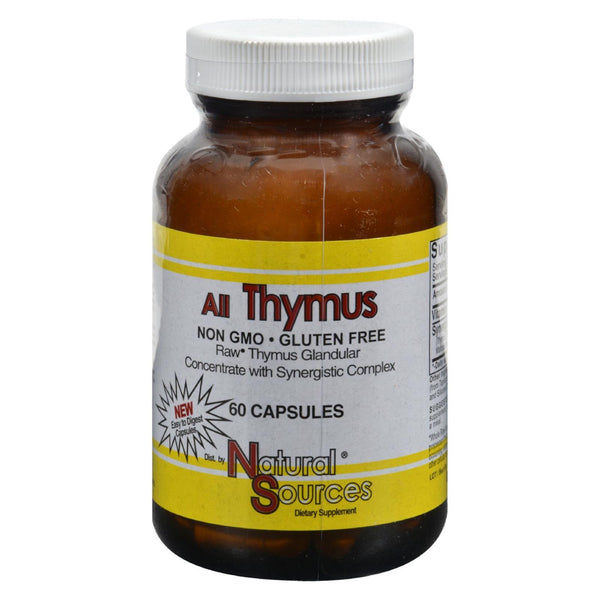 Natural Sources All Thymus - 60 caps