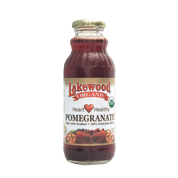 Lakewood Pure Fruit Pomegranate Juice - Pomegranate - Case of 12 - 12.5 fl oz