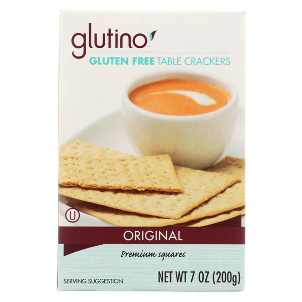 Glutino Table Crackers - Case of 12 - 7 oz