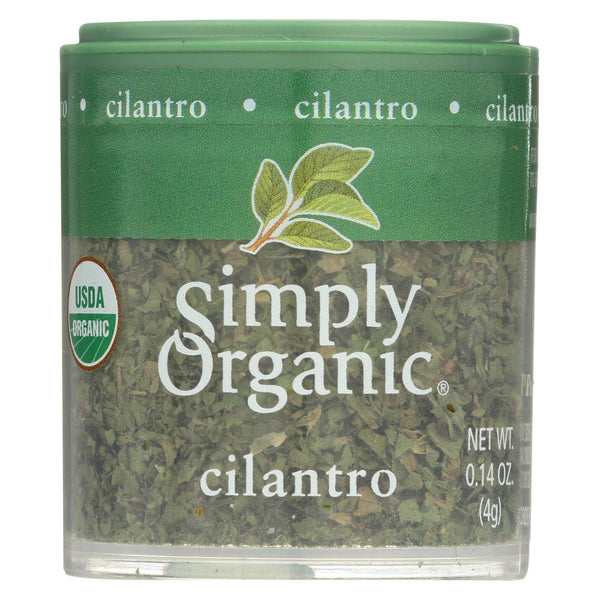 Simply Organic Cilantro Leaf - Organic - Cut and Sifted - 0.14 oz - Case of 6