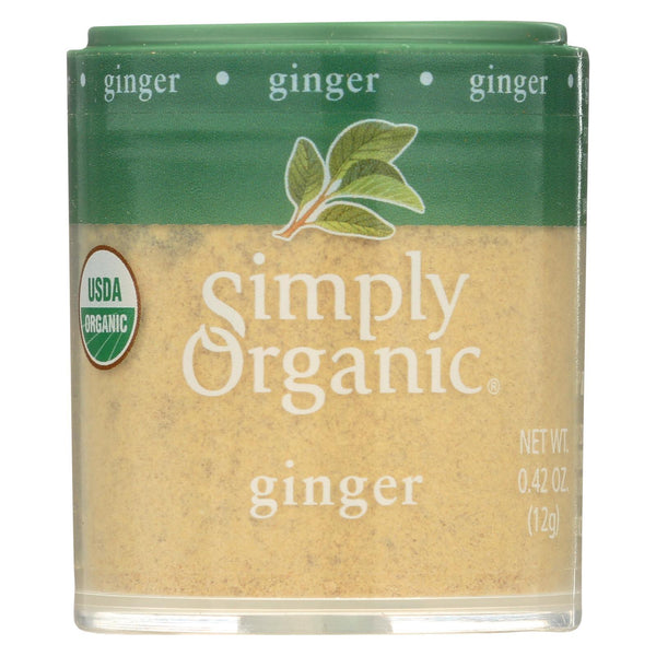Simply Organic Ginger Root - Organic - Ground - 0.42 oz - Case of 6